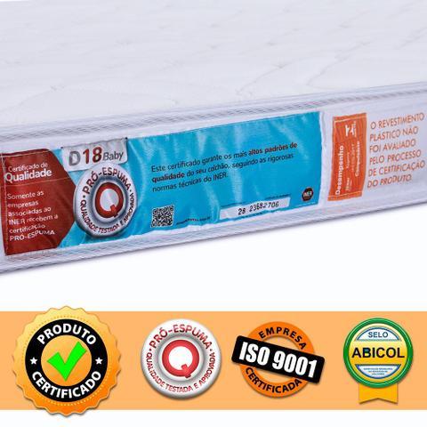 Imagem de Colchão Berço Desmontável Chiqueirinho Cercadinho Espuma Certificada D18 Antialérgico 100x70x10 Bf
