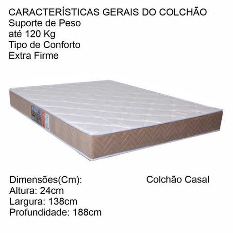 Imagem de Colchão Casal 138x188x24 Espuma D45 Genova Selado Orthoflex Cestaplus
