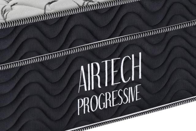 Imagem de Colchão Casal Airtech Progressive 138x188x29 cm Preto Ortobom