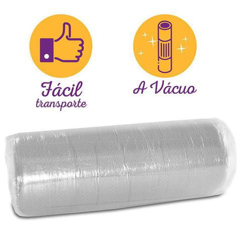 Imagem de Colchão Casal Espuma D45 A Vácuo Ortopédica Certificada BF Colchões 138x188x17cm