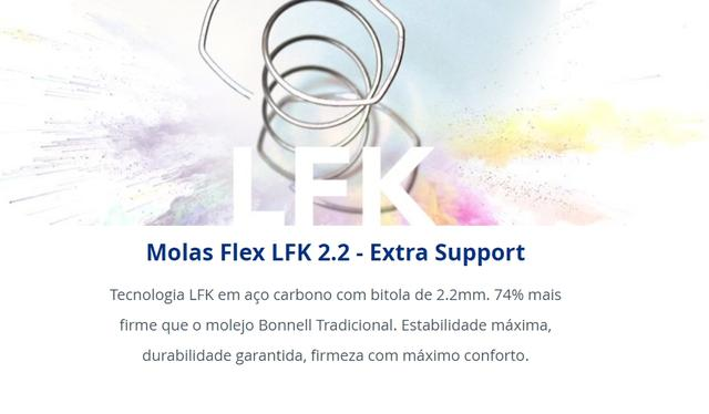 Imagem de Colchão Casal Flex D28 28x138x188Cm com Sistema de Molas LFK
