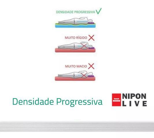 Imagem de Colchão Casal Magnético Massageador Cinza 30cm Nipon Live