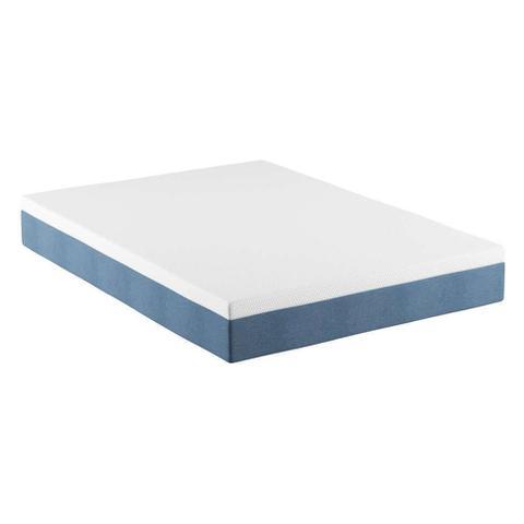 Imagem de Colchão Casal Mola Ensacada Guldi Macio (25x138x188) Azul e Branco