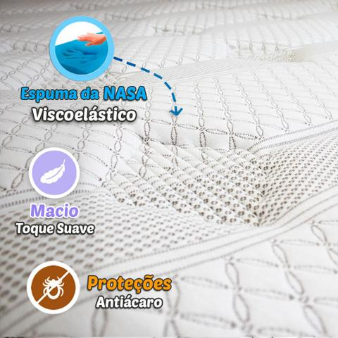 Imagem de Colchão Casal Mola Verticoil PillowTop 138x188x34cm - Reign Relaflex