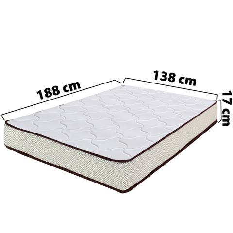 Imagem de Colchão Casal Ortopédico Sleep Extra Firme BF Colchões 138x188x17cm