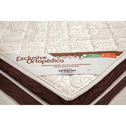 Imagem de Colchão Casal Pillow Top Exclusive Ortopédico  Ortobom