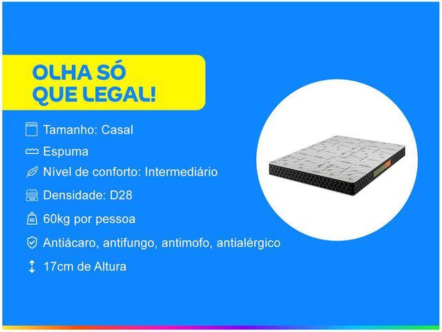 Imagem de Colchão Casal Plumatex Colchões Espuma D-28