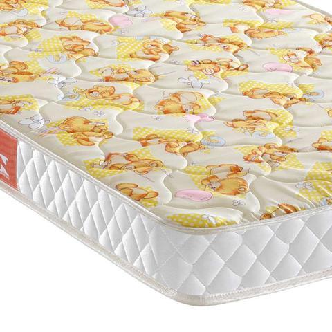 Imagem de Colchão Infantil Quality Baby com Espuma D18 (10x60x130) Branco e Amarelo