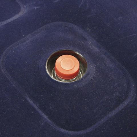 Imagem de Colchão Inflável Solteiro Aveludado Nautika Zenite Azul Com Inflador Incorporado