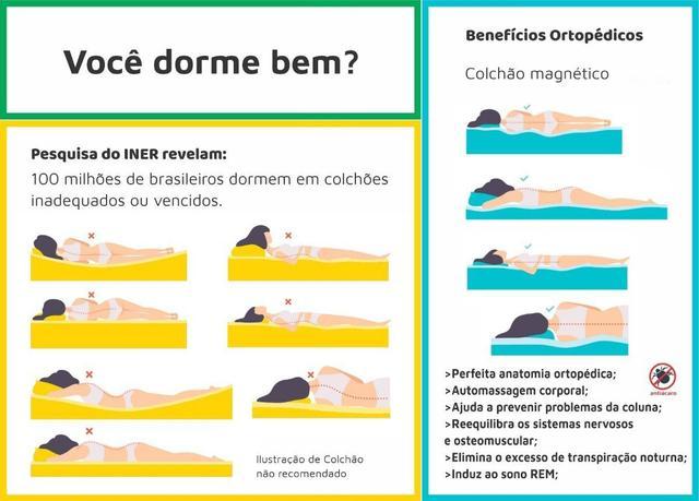 Imagem de Colchão Magnético Massageador Bio Quântico Casal Padrão