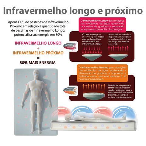 Imagem de Colchão Magnético Ortopédico Casal com Infravermelho, Massageador, Cromoterapia