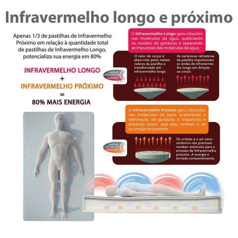Imagem de Colchão Magnético Ortopédico Casal com Infravermelho, Massageador, Energia Quântica