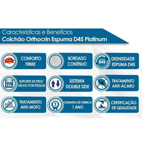 Imagem de Colchão Orthocrin D45 Platinum Pró Saúde Casal 138