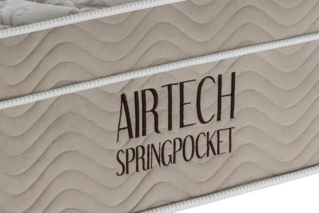 Imagem de Colchão Solteiro Airtech Spring Pocket 88x188x30 cm Bege Ortobom