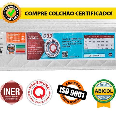 Imagem de Colchão Solteiro D33 Espuma Antialérgico 78x188x17cm - BF Colchões