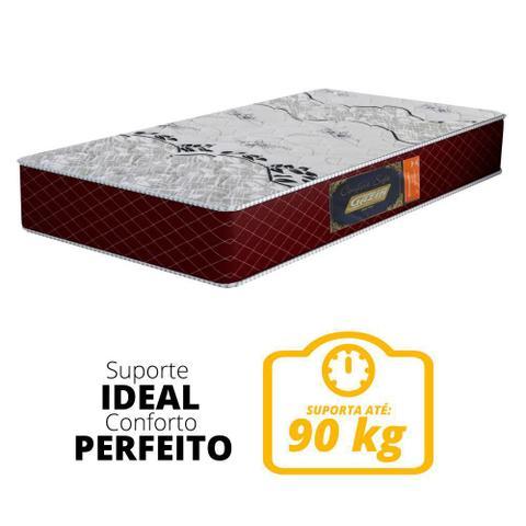 Imagem de Colchão Solteiro de Espuma D28 Confort Soft Bordeaux 88x188x14cm