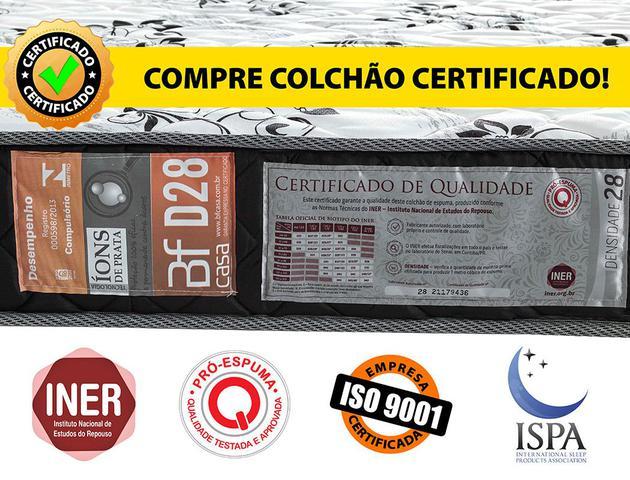 Imagem de Colchão Solteiro Espuma D28 Selada Ortopédico BF Colchões 78x188x14cm