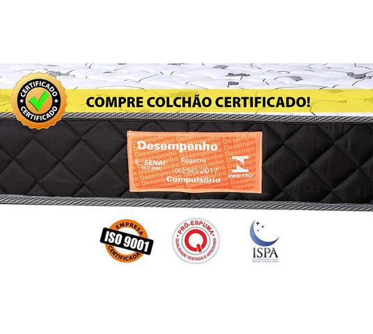 Imagem de Colchão Solteiro Espuma D33 Selada Anti Ácaro / Anti Fungo / Anti Alérgico BF Colchões 88x188x14cm