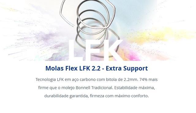 Imagem de Colchão Solteiro Flex D-26 96x203Cm com Sistema de Molas LFK