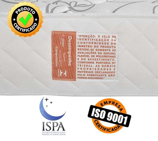 Imagem de Colchão Solteiro Ortopédico Extra Firme Certificado Dupla Face 88x188x22cm