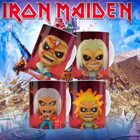 Imagem de Coleção 04 canecas  colecionável funko pop iron maiden