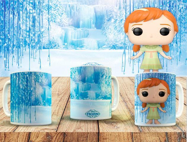 Imagem de Coleção 10 canecas colecionável funko pop frozen