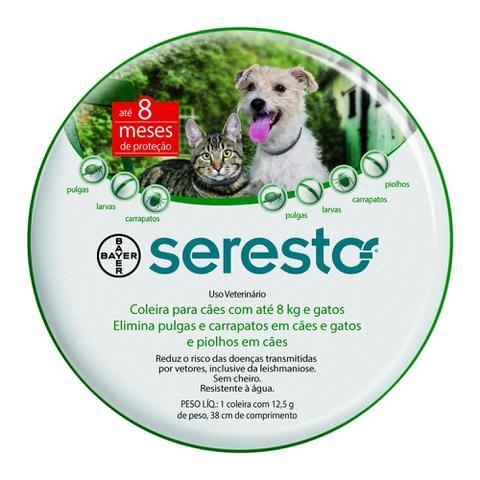 Imagem de Coleira Antipulgas Seresto para cães até 8Kg e gatos