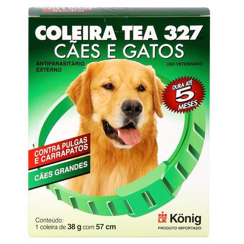 Imagem de Coleira Contra Pulgas e Carrapatos TEA 327 Cães Grandes König 38g c/ 57cm