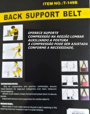 Imagem de Colete corretor de postura ajustavel lombar cervical modelador cinta coluna abdominal ergonomico reforcada