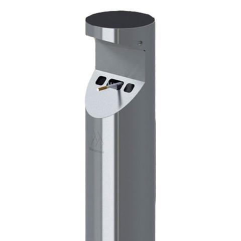 Imagem de Coletor de bituca de cigarro em inox pedestal - PAPA BITUCAS PB.1.112
