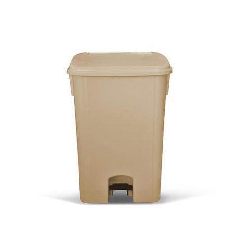 Imagem de Coletor de lixo 100L c/ pedal e sem rodas CP10BG Bege - Bralimpia