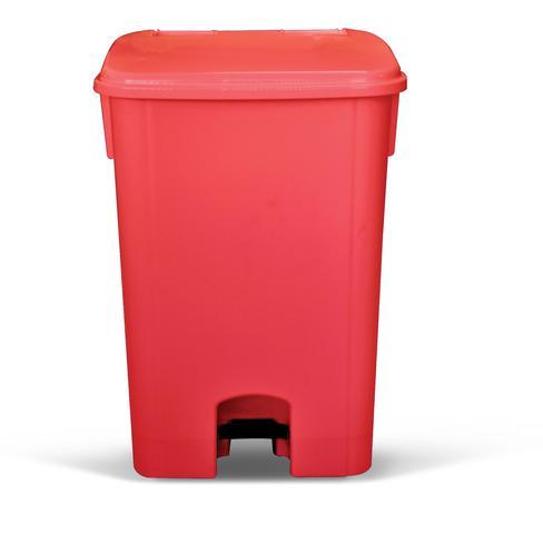 Imagem de Coletor de lixo 100L c/ pedal sem rodas CP10VM Vermelho - Bralimpia
