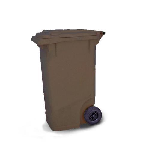 Imagem de Coletor de lixo 240Litros C240MR Marrom - Bralimpia