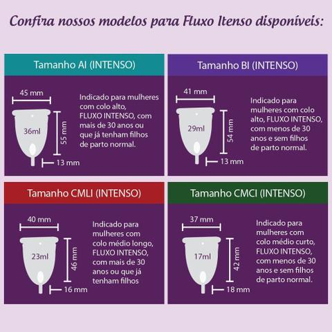 Imagem de Coletor Menstrual Easy Cup - CMCI (Colo Médio Curto - Fluxo Intenso)
