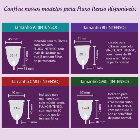 Imagem de Coletor Menstrual Easy Cup - CMLI (Colo Médio Longo - Fluxo Intenso)