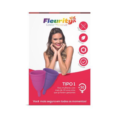 Imagem de Coletor menstrual Fleurity hipoalergênico Tipo 1 com 2 unidades