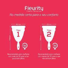 Imagem de Coletor Menstrual Fleurity Tipo 1 Sem Pigmento 1 Unidade