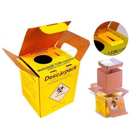 Imagem de Coletor Para Material Perfurocortante Papelão - Descarpack