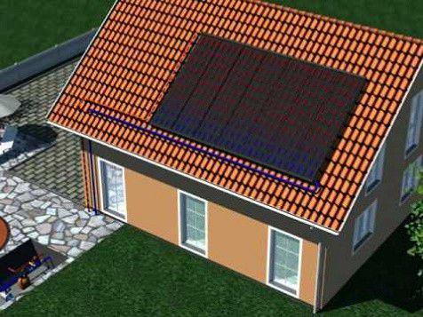 Imagem de Coletor Solar P/ Aquecimento De Piscinas Placa De 3,00 X 0,42m
