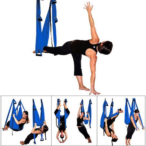 Imagem de Columpio Aéreo Pilates Yoga Aerial Suspenso Balance Swing com Fitas Extensão