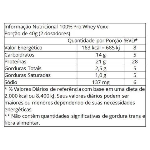 Imagem de COMBO 100 PRO WHEY VOXX 1,8kg - BAUNILHA