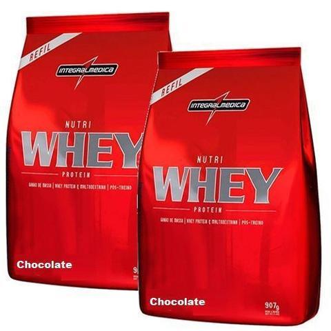 Imagem de Combo 2 - Nutri Whey Protein - Refil Chocolate 907g - Integralmédica