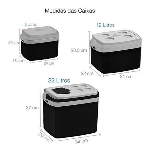 Imagem de Combo 3 Caixas Térmicas 5, 12 e 32 Litros Preta - Soprano