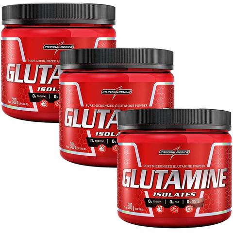 Imagem de Combo 3 Glutamina Powder Isolate - Natural 300g - Integralmédica
