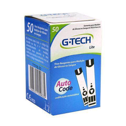 Imagem de Combo 5 50 Tiras Reagentes G-tech Lite Teste De Glicemia