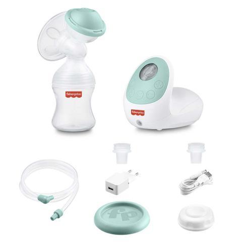 Imagem de Combo Amamentação - Extrator de Leite, Kit 3 Potes para Armazenar Leite Materno e Absorventes Reutilizáveis Para Seios Com 6 Peças - BB320K
