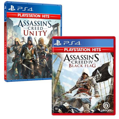 Imagem de Combo de Jogos PS4 - Assassin's Creed Unity + Assassin's Creed IV Black Flag