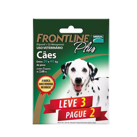 Imagem de Combo Frontline Plus Cães 20 a 40kg Merial 3 pipetas - Descrição marketplace