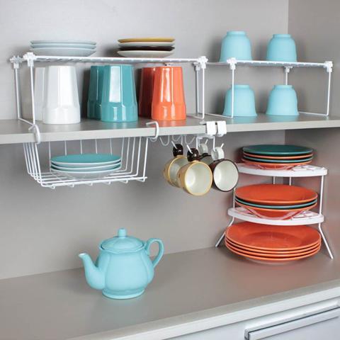 Imagem de Combo Organização de Cozinha - Kit 5 peças - Branco