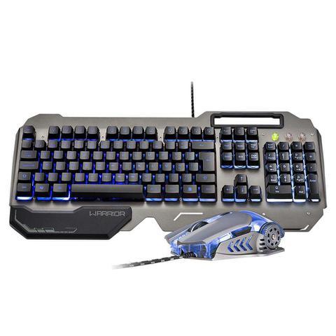 Kit Teclado e Mouse Usb Óptico Led 3200 Dpis Gamer Warrior Ragnar Keon Tc223 Multilaser